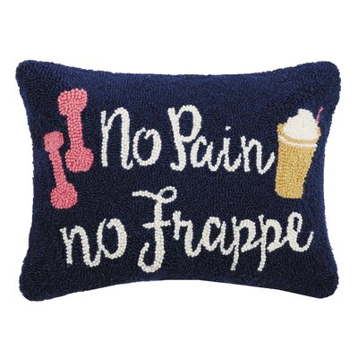 Durst No Pain No Frappe Wool Throw Pillow