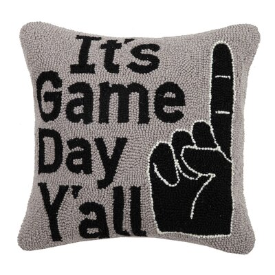 Durdham Park Game Day Yall Wool Throw Pillow