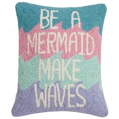 Hirschman Be A Mermaid Make Waves Wool Throw Pillow