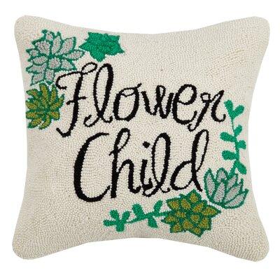 Paras Flower Child Wool Throw Pillow