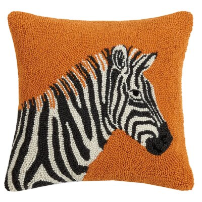 Duran Zebra Wool Throw Pillow