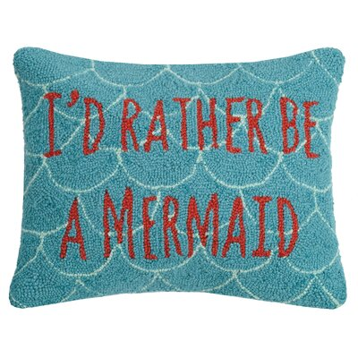 Hirst ID Rather Be A Mermaid Wool Throw Pillow