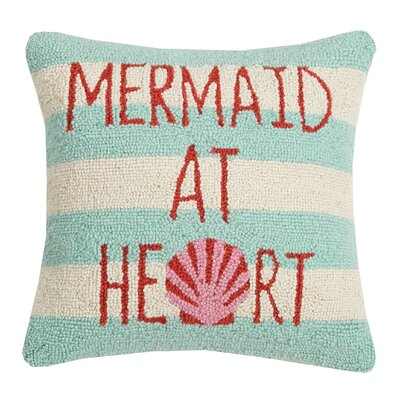 Hixon Mermaid At Heart Wool Throw Pillow