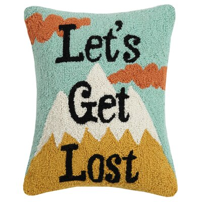 Reeser Lets Get Lost Wool Throw Pillow