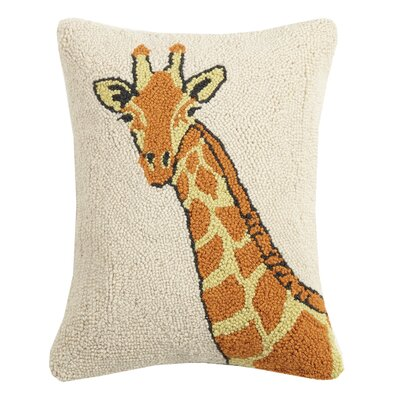 Palumbo Giraffe Wool Throw Pillow