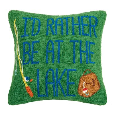 Rhein Rather Be at the Lake Wool Throw Pillow