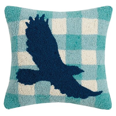 Rapp Plaid Eagle Wool Throw Pillow