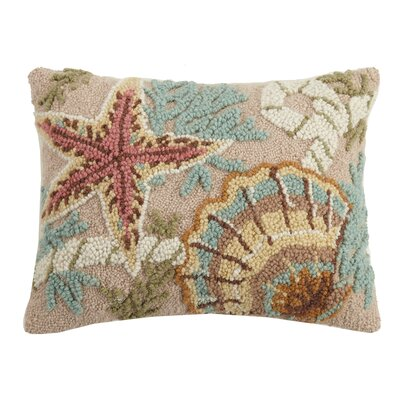 Hirth Starfish And Shell Wool Throw Pillow