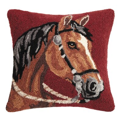 Reyer Horse Wool Throw Pillow
