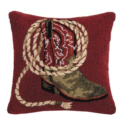 Revis Western Boots Wool Throw Pillow