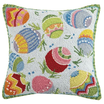 Dykstra Egg Toss Wool Throw Pillow