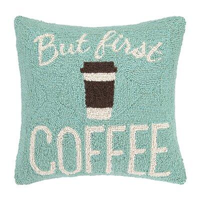 Dutil Coffee First Wool Throw Pillow