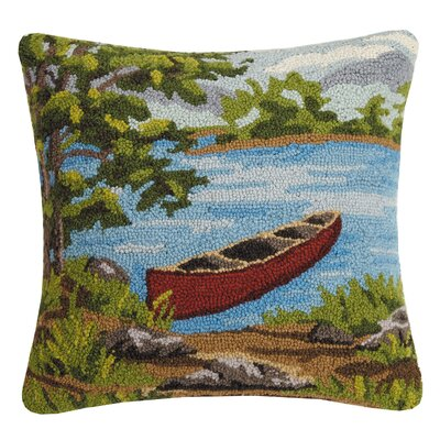 Rhoton Lake Side Scene Wool Throw Pillow