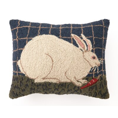 Gantz White Bunny Wool Throw Pillow