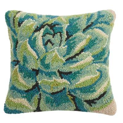 Paramus Succulent Square Wool Throw Pillow