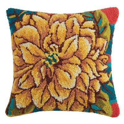 Paradis Yellow Peony Wool Throw Pillow