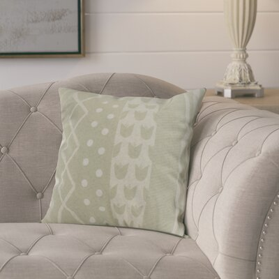 Kaylor Pattern Stripe Indoor/Outdoor Throw Pillow Color: Green, Size: 16 x 16