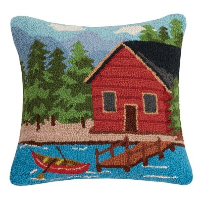 Rentschler Cabin at the Lake Wool Throw Pillow