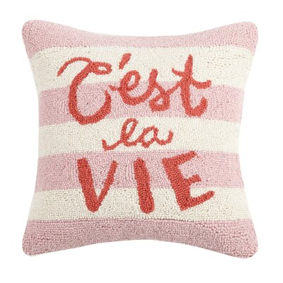 Mcneel Cest La Vie Wool Throw Pillow