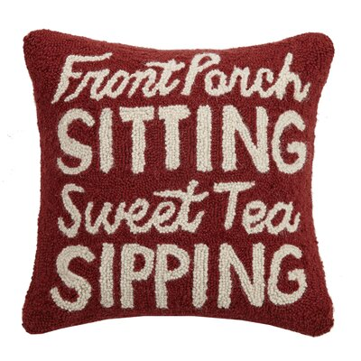 Gamino Front Porch Sitting Wool Throw Pillow