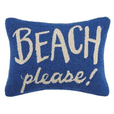 Hitchens Beach Please Wool Throw Pillow