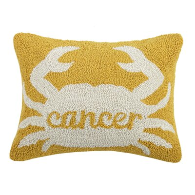 Hitz Cancer Wool Throw Pillow