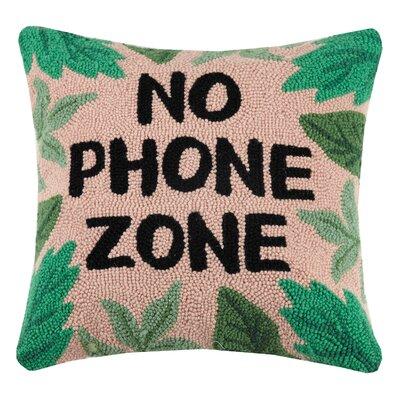 Dvorak No Phone Zone Wool Throw Pillow
