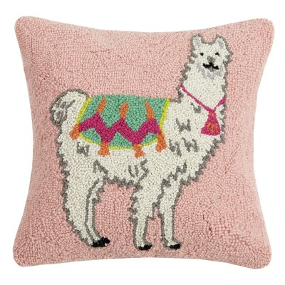Dupuy Llama New Festival Wool Throw Pillow