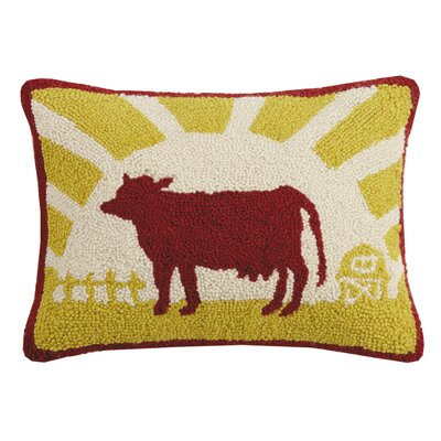 Gann Good Morning Cow Wool Throw Pillow