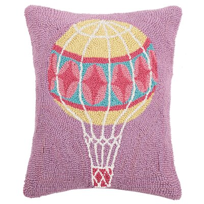 Durrant Pastel Air Balloon Wool Throw Pillow