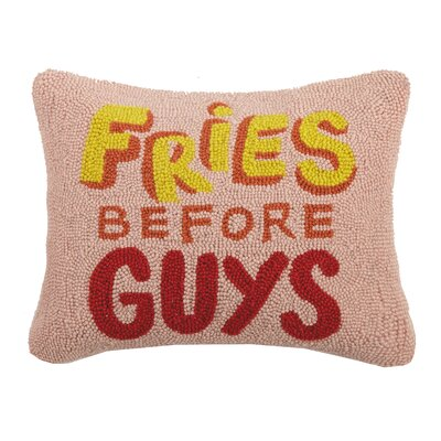 Durr Fries Before Guys Wool Throw Pillow