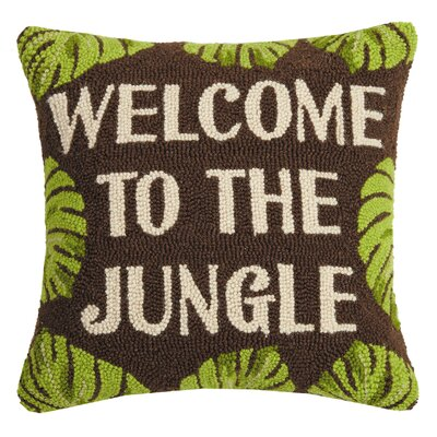 Pancoast Welcome to the Jungle Wool Throw Pillow