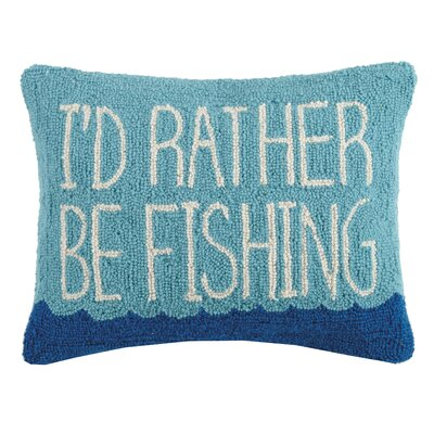 Ratner Id Rather Be Fishing Wool Throw Pillow