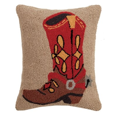 Reasor Cowboy Boot Wool Throw Pillow