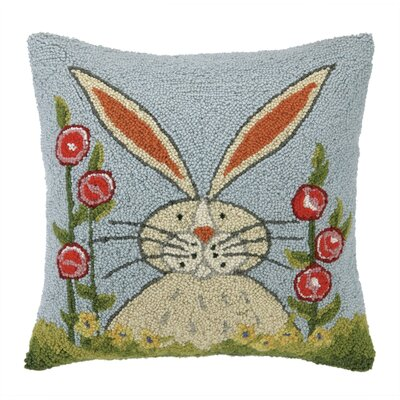 Garbutt Rabbit in Garden Wool Throw Pillow