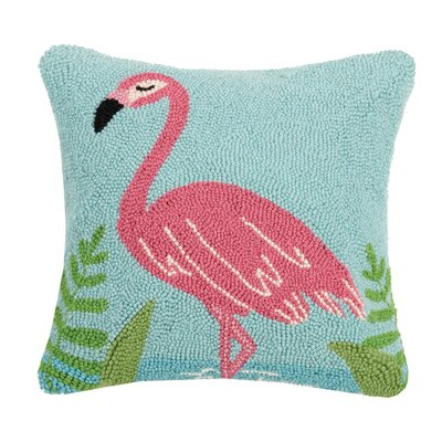 Dickens Pastel Flamingo Wool Throw Pillow