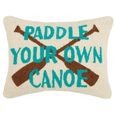 Raub Paddle Your Own Canoe Wool Throw Pillow