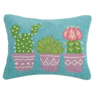Durrah Pastel Cacti Wool Throw Pillow