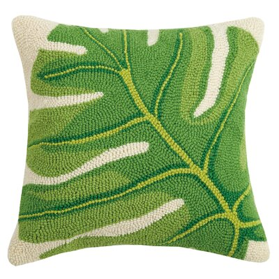 Radcliffe Banana Leaf Wool Throw Pillow