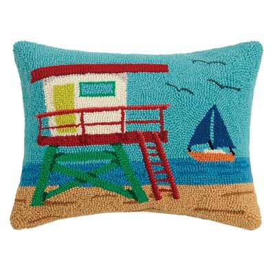 Hively Lifeguard House Wool Throw Pillow