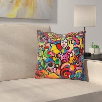 Lady Throw Pillow