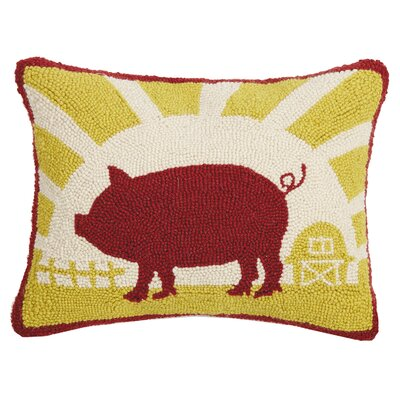 Gangemi Good Morning Pig Wool Throw Pillow