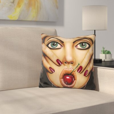 Cherry Pop Throw Pillow