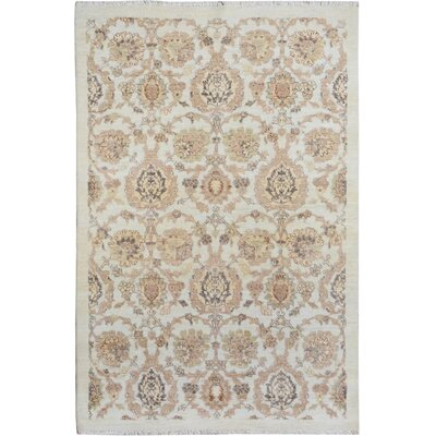 One-of-a-Kind Palmquist Hand-Knotted Wool Ivory/Tan Area Rug