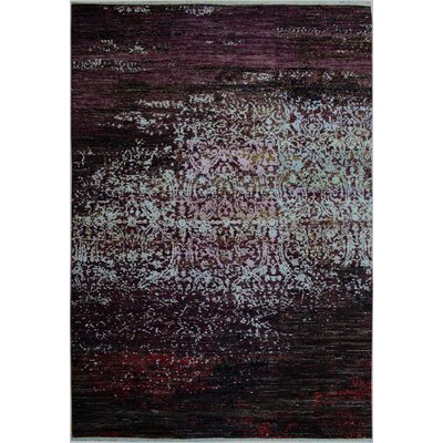 One-of-a-Kind Kafkaz Peshawar Gerard Hand-Knotted Wool Brown/Purple Area Rug