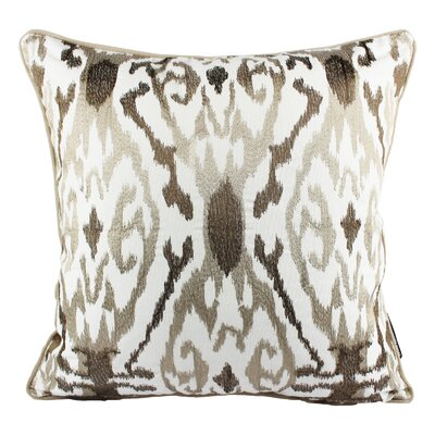 Frenette Woven Cotton Throw Pillow Color: Ivory