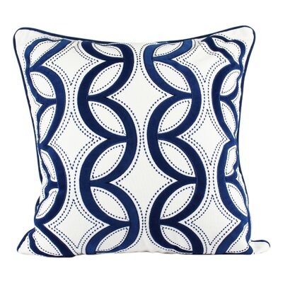 Pedroza Woven Cotton Throw Pillow Color: Blue