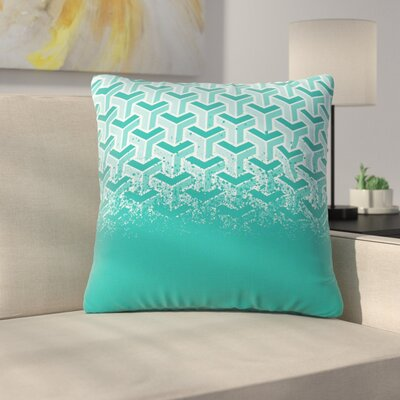 No Yard Throw Pillow Size: 16 H x 16 W x 6 D, Color: Teal
