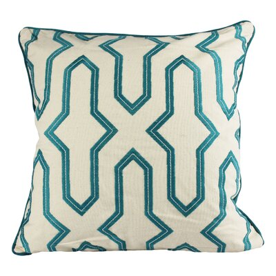 Freitas Embroidery Cotton Throw Pillow