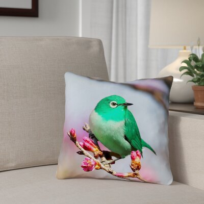 Carmina Smith Bird Pillow Cover Size: 14 x 14